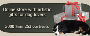 Online store with artistic gifts for dog lovers - 3000 items 256 dog breeds