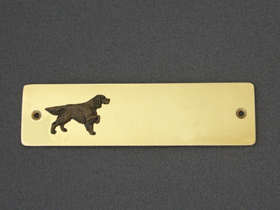 English Setter - Brass Door Plate