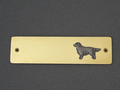 Golden Retriever - Brass Door Plate