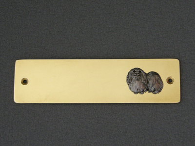 Pekingese Brass Door Plate Milan Orm Dog Art Shop