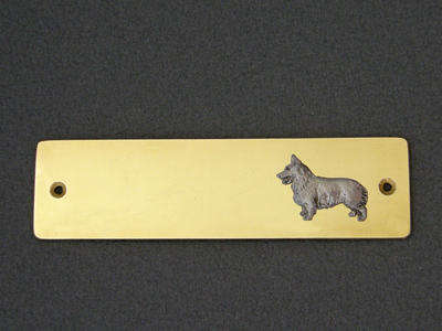 Welsh Corgi Pembroke - Brass Door Plate