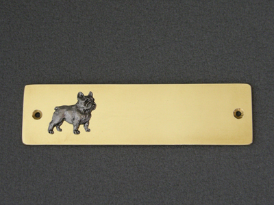 French Bulldog - Brass Door Plate