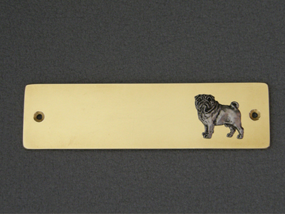 Pug - Brass Door Plate