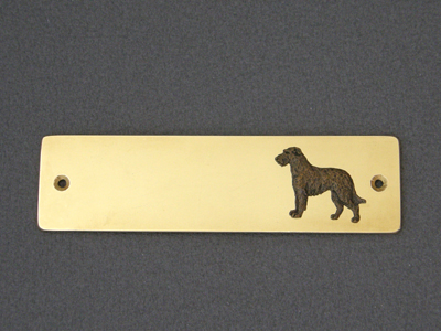 Irish Wolfhound - Brass Door Plate