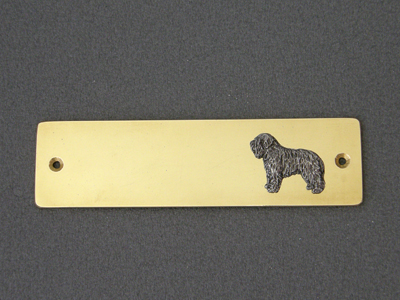 Polish Lowland Sheepdog - PON - Brass Door Plate