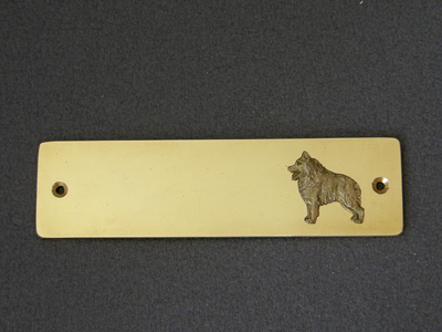 Schipperke Brass Door Plate Milan Orm Dog Art Shop
