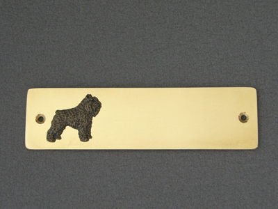 Bouvier des Flandres - Brass Door Plate