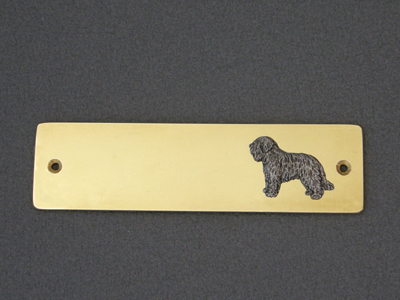 Schapendoes - Brass Door Plate