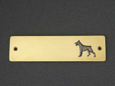 Dobermann - Brass Door Plate
