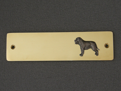 Bullmastiff - Brass Door Plate