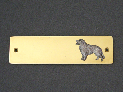 Hovawart - Brass Door Plate