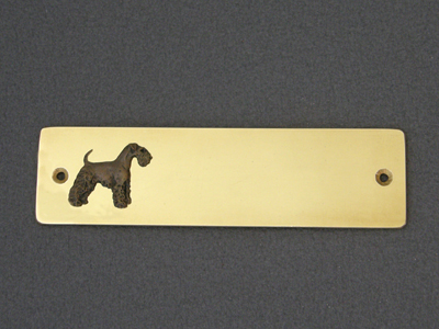 Welsh Terrier - Brass Door Plate