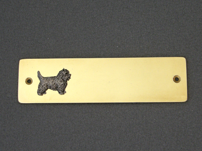 Cairn Terrier - Brass Door Plate