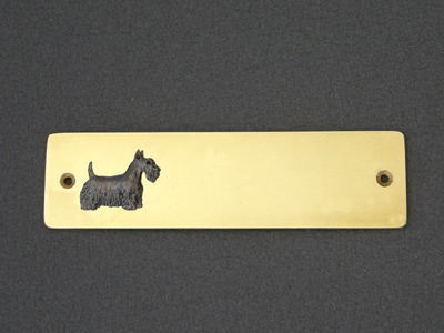Scotish Terrier - Brass Door Plate