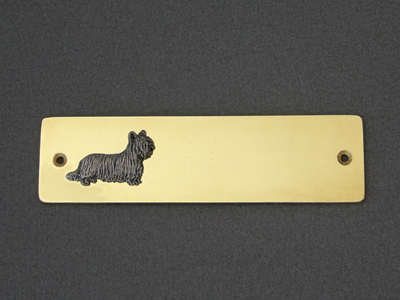 Skye Terrier - Brass Door Plate