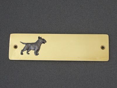 Bullterrier - Brass Door Plate