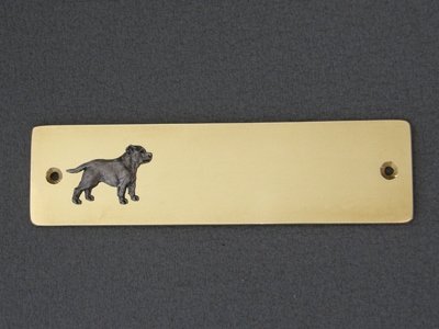 Staffordshire Bullterrier - Brass Door Plate