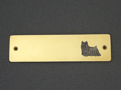 Yorkshire Terrier - Brass Door Plate