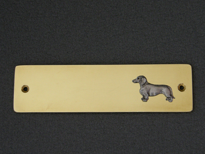 Dachshund Smooth - Brass Door Plate