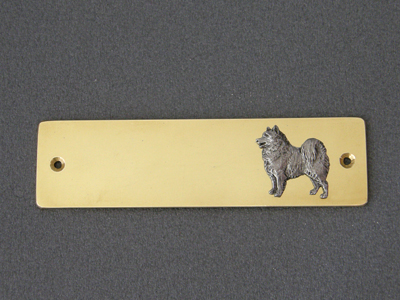 Samoyed - Brass Door Plate