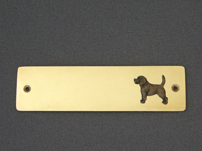 Beagle - Brass Door Plate