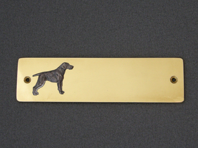 German Shorthaired Pointer - Brass Door Plate