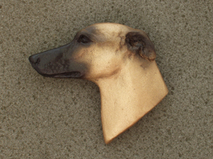 Whippet - Brooche Large Head