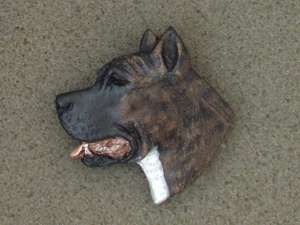 American Staffordshire Terrier - Brooche Large Head