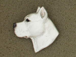 Dogo Argentino - Brooche Large Head