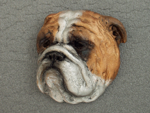 English Bulldog - Brooche Large Head
