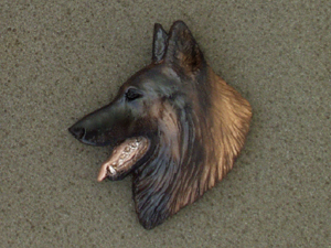 Belgian Tervueren - Brooche Large Head