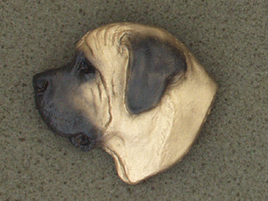 Mastiff - Brooche Large Head