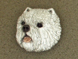 West Highland White Terrier - Brooche Large Head