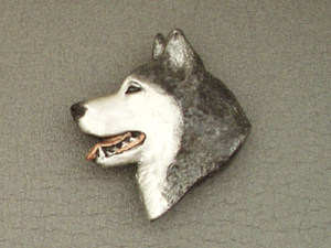 Alaskan Malamute - Brooche Large Head