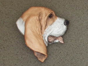 Basset Hound - Brooche Large Head