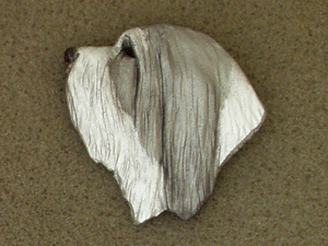 Bearded Collie - Brooche Large Head