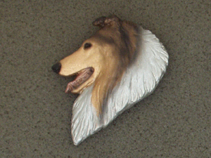 Collie Rough - Brooche Large Head