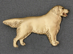 Golden Retriever - Brooche Figure