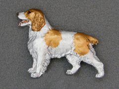 Welsh Springer Spaniel - Brooche Figure