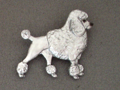 Poodle Classic - Brooche Figure