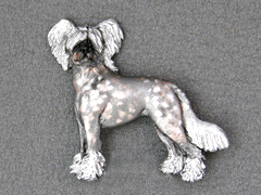 Chinese Crested Dog - Brooche Figure