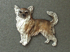 Chihuahua Longhaired - Brooche Figure