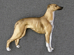 Greyhound - Brooche Figure
