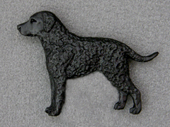 Curly Coated Retriever - Brooche Figure