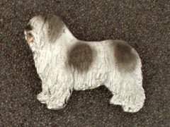 Polish Lowland Sheepdog - PON - Brooche Figure