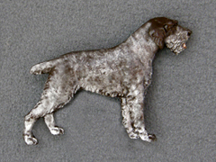 German Wirehaired Pointer - Brooche Figure