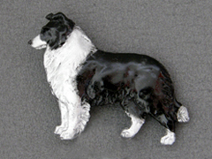 Border Collie - Brooche Figure
