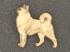 Norwegian Buhund - Brooche Figure