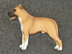American Staffordshire Terrier - Brooche Figure