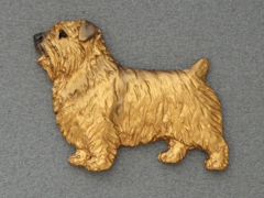 Norfolk Terrier - Brooche Figure